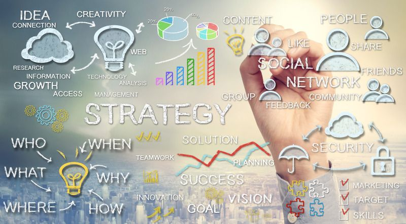 Image depicting the formation of SEO Strategy as used in project management